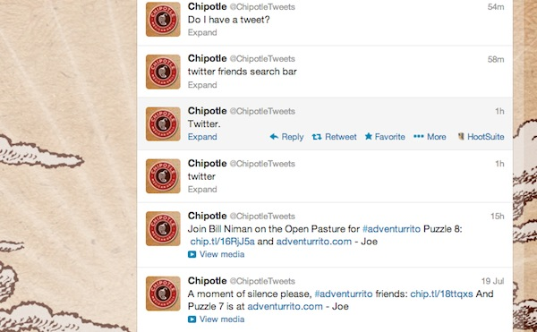 chipotle twitter start