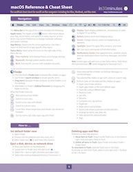 macOS cheat sheet mac computer iMac MBP
