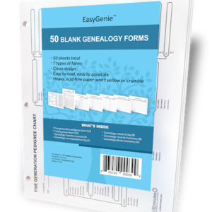 EasyGenie Blank Genealogy Forms Bundle